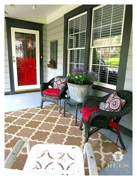 front porch rugs front porch refresh 2 bees in a pod