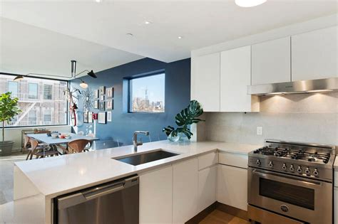 accent wall ideas for kitchen creating a warm and calm situation at home with blue