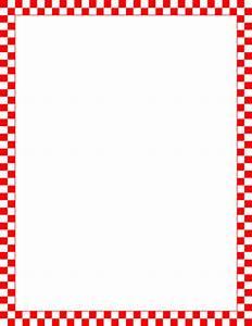 Printable red and white checkered border. Free GIF, JPG ...