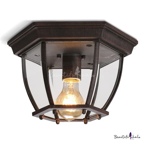 rustic flush mount ceiling lights rustic vintage one light industrial flush mount ceiling