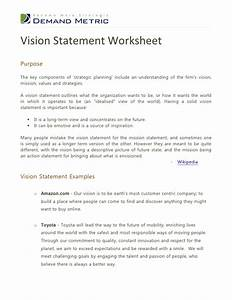 vision statement worksheet With vision statement template free