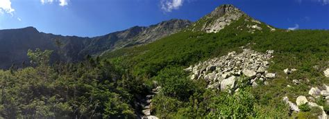 Chimney pond trail baxter state park. A view of our climbing above Chimney Pond: Cathedral Trail ...