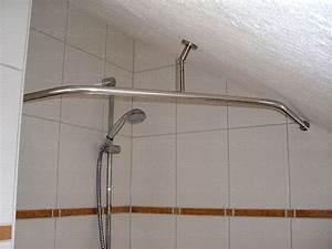 Duschvorhang Bei Dachschräge : duschvorhangstange f r viertelkreis duschwanne oder bodenebene behindertengerechte dusche ~ Sanjose-hotels-ca.com Haus und Dekorationen