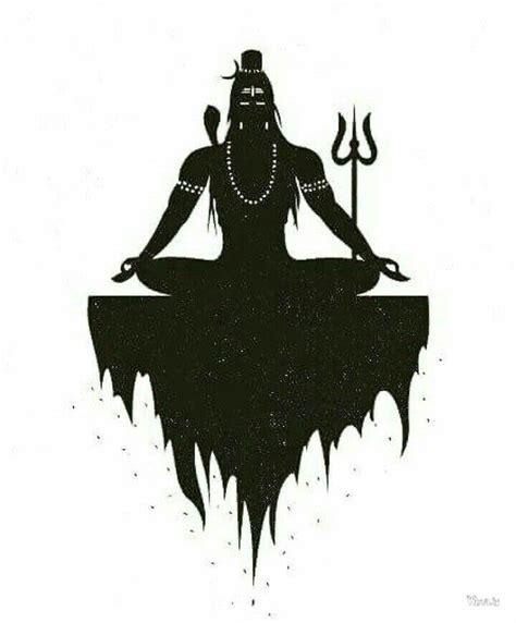 black  white image  lord shiva  dhyan mudra