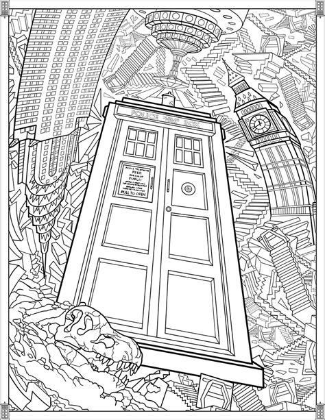Doctor Who Pages TARDIS - TV shows Adult Coloring Pages