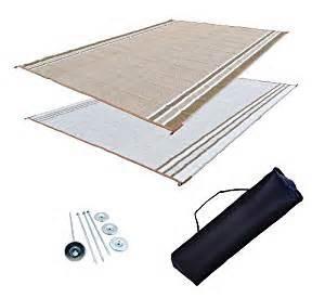 rv patio mat awning mat outdoor rug trailer mat complete kit 9x18 desert sands