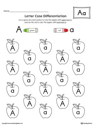 Letter A Puzzle Printable Myteachingstationcom