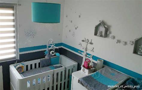 déco chambre bébé turquoise la chambre bébé turquoise et grise de gabriel