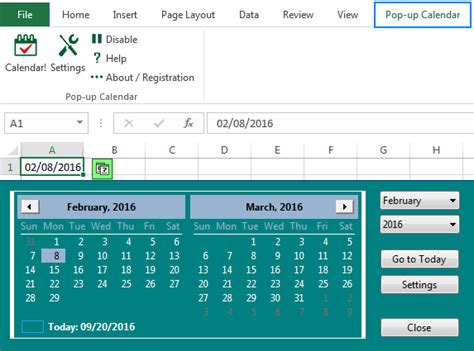 how to insert calendar in excel date picker printable