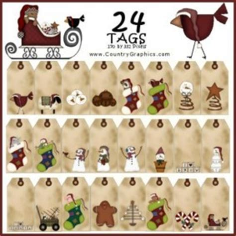 freebie christmas moose gift tags country graphics