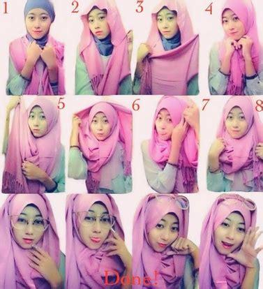 aneka tutorial  memakai jilbab modern bahan satin kumpulan contoh kreasi hijab modern