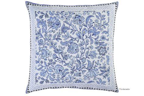 Kissen Blau Weiß by S Table Royal Jacquard Ornamental Gemustert