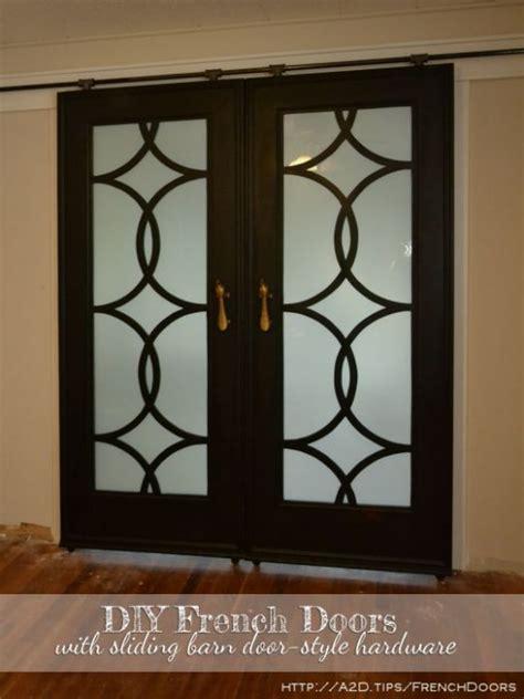 finished sliding barn door style french doors addicted  decorating