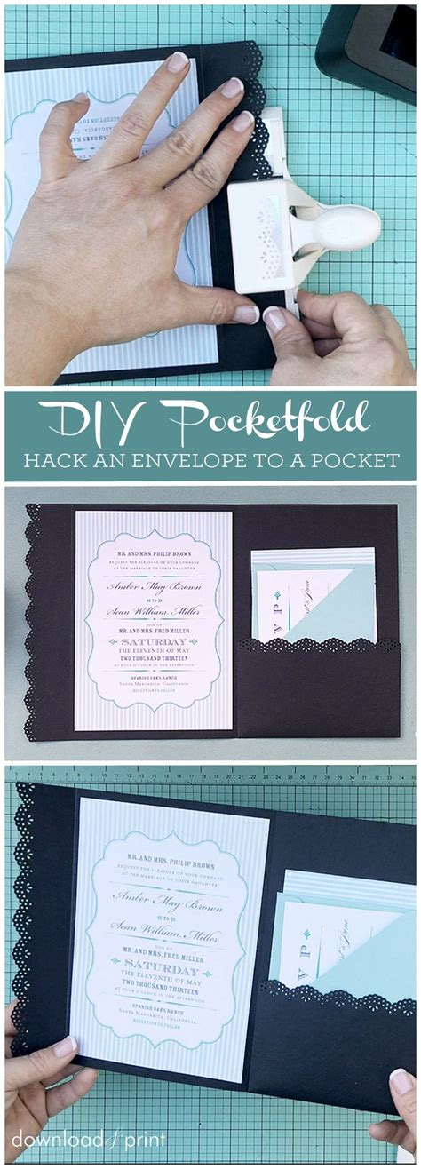 how to hack an envelope into a pocket invitation such a