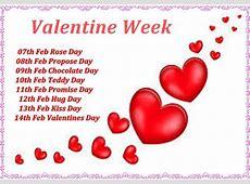 Valentine Week List 2018 Dates Schedule Full List 7th14th
