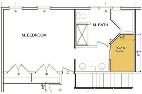 Master Bedroom With Bathroom Floor Plans by Master Bedroom Bathroom And Walk In Closet Layout Master