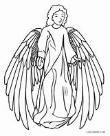 Coloring Angel Pages Cool2bkids Printable sketch template