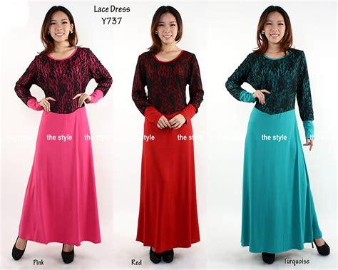 khasiat jamu lifeku long lycra lace dress code y737