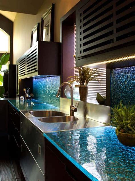 modern kitchen countertops  unusual materials  ideas