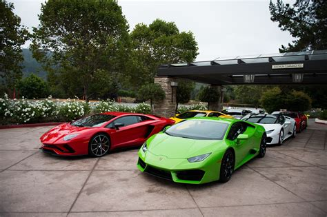 Lamborghini Highlights Its Lineup At Pebble Beach