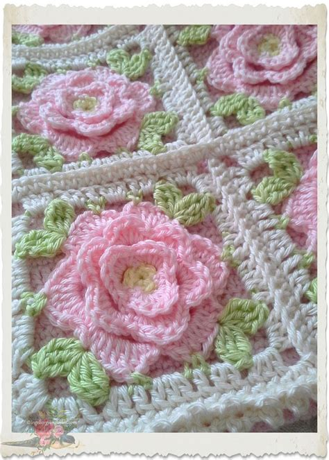 shabby chic crochet blanket shabby chic pink roses crochet afghans and blankets pinterest shabby chic pink roses and