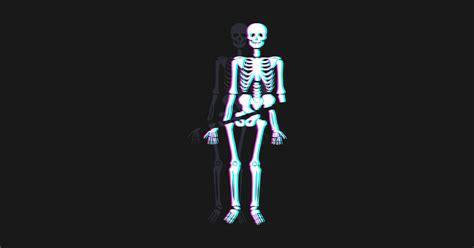 Spooky Skeleton Vaporwave Aesthetic Vaporwave T