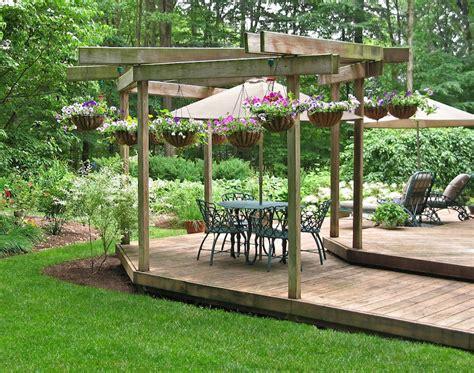 garden decking ideas sizes  shapes materials