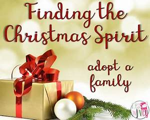 Finding the Christmas Spirit Adopt a Family