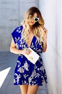Blue Floral Romper - Dash of Darling