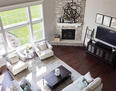 Living Room Setup With Corner Tv by 27 Stunning Fireplace Tile Ideas For Your Home