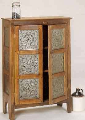 punched tin panels  cabinets images  pinterest
