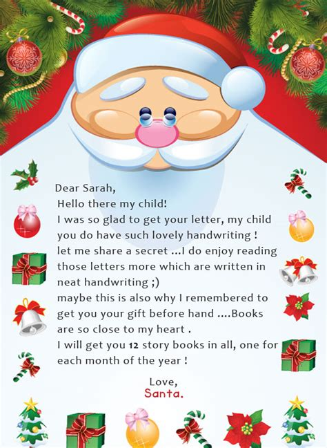 letter to child about santa letter from santa free sles letters from santa 28277