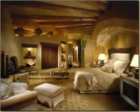 rustic master bedroom design idea with wood ceiling panels