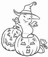 Ghost Coloring Halloween Pumpkin Printable Ghosts Clip Scary Dancing Pumpkins Funny Happy Getcolorings Sheets Printables Popular Filminspector Spooky Coloringhome Unique sketch template