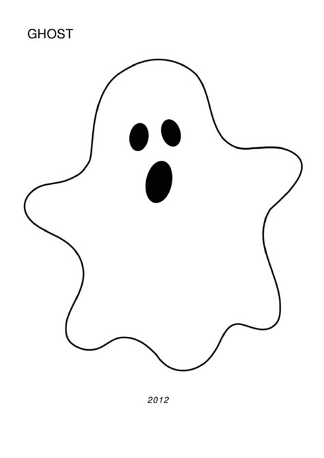 halloween ghost template large printable