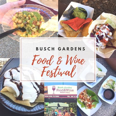 busch gardens food wine festival the magnificent