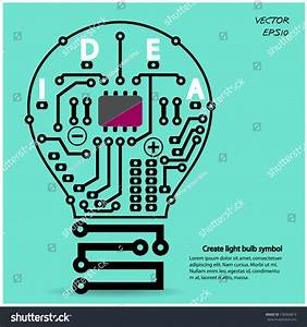 Light Bulb Idea Concept Template  Light Bulb Circuit
