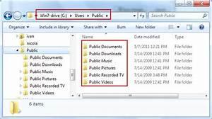 Public folder sharing in windows 7 for Microsoft public documents