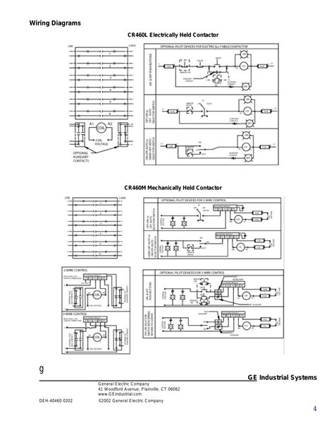 square d 8903 lighting contactor wiring diagram ge industrial solutions cr460 lighting contactor series