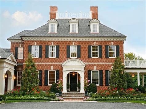 brick colonial house plans curb appeal another great exle of beautiful design
