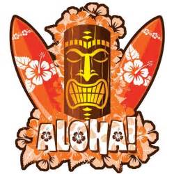 girl earrings hawaiian orange tiki sticker decal from hawaii ebay