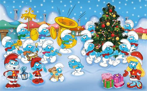 smurfs  orchestra cartoons merry christmas