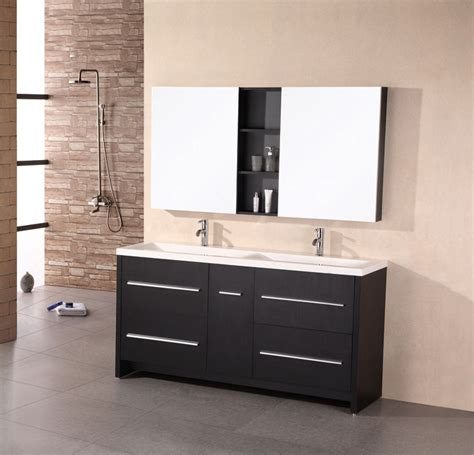 adorna 72 inch espresso finish double sink top bathroom vanity set
