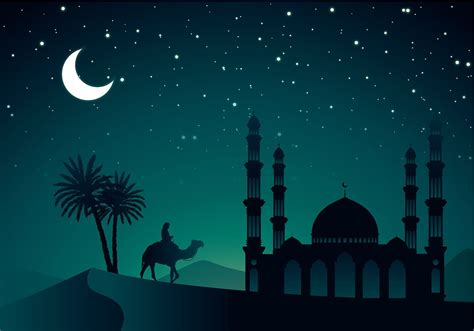 arabian night vector  gambar latar belakang
