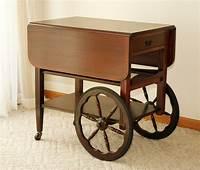 antique tea cart Antique TEA SERVING CART Drop Leaf Trolley Rolling Server ...