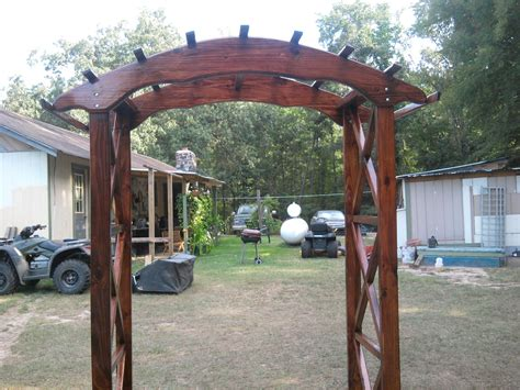 wood wedding arbor plans plans diy   wood