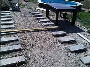Pose Terrasse Bois Sur Gravier : terrasse en bois composite sur parpaings 42 messages ~ Premium-room.com Idées de Décoration