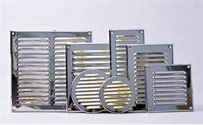 Exterior Wall Exhaust Vent Cover by Stainless Steel Air Vent Grille Metal Chrome Wall Ventilation Ducting Cover G