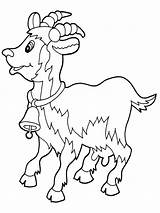 Goat Coloring Pages Animals Print Recommended sketch template