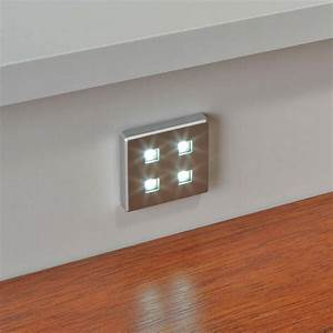 4 X Square Kitchen Led Plinth Light Kit Cool White    Warm